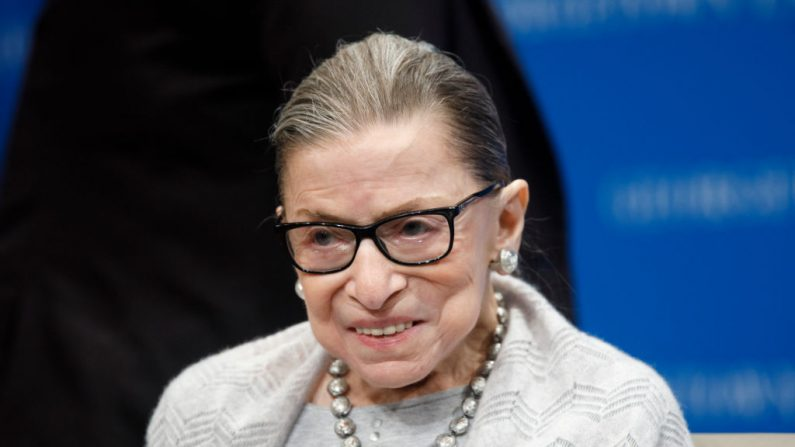 WASHINGTON, DC - SEPTEMBER 12:  Supreme Court Justice Ruth Bader Ginsburg delivers remarks at the Georgetown Law Center on September 12, 2019, in Washington, DC.  Justice Ginsburg spoke to over 300 attendees about the Supreme Court's previous term. (Photo by Tom Brenner/Getty Images)
