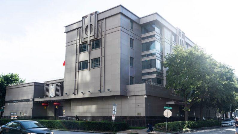 El edificio del consulado chino luego de que Estados Unidos ordenara a China su cierre, el 22 de julio de 2020 en Houston, Texas. (Go Nakamura/Getty Images)