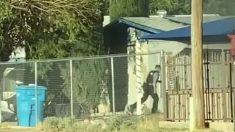 Oficial de policía de Texas entra a una casa en llamas para salvar a un niño de 8 años