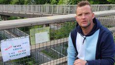 Hombre instala en puentes mensajes de prevención de suicidios para persuadir a la gente que no salte