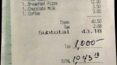 Cliente deja propina de USD 1000 a empleados para agradecerles por trabajar durante el confinamiento