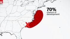Fay podría convertirse esta semana en una tormenta tropical e impactar a lo largo de la costa este.