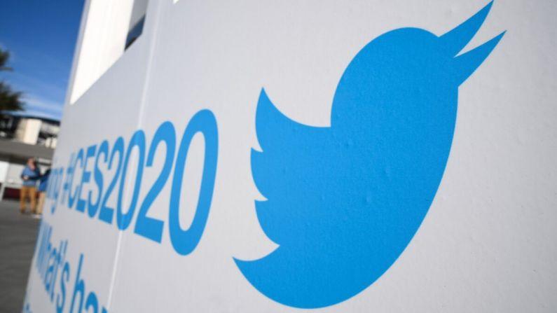 El logo de Twitter en la 2020 Consumer Electronics Show (CES) en el Centro de Convenciones de Las Vegas en Las Vegas, Nev., el 5 de enero de 2020. (Robyn Beck/AFP vía Getty Images)