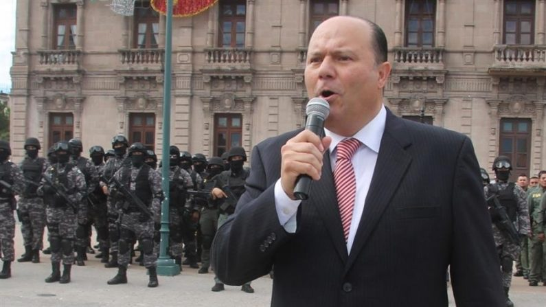 Fotografía del 4 de octubre de 2016 del exgobernador César Duarte. EFE /Jonathan Fernández /Archivo
