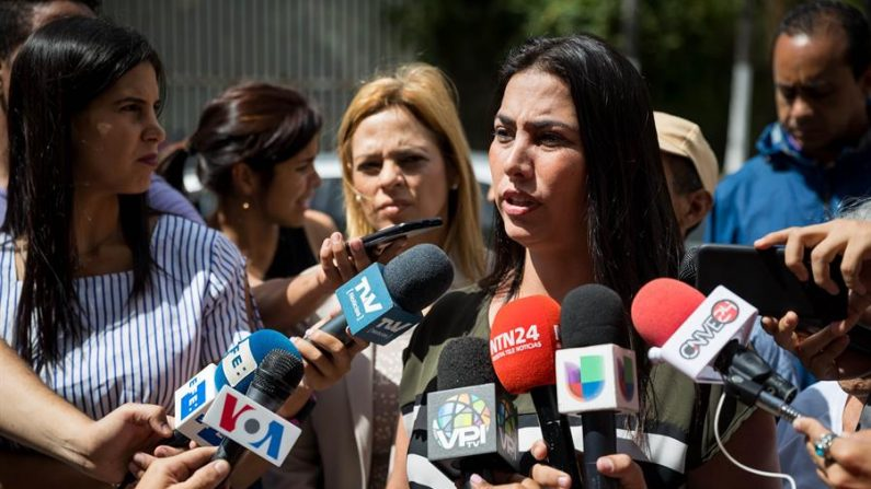 En la imagen la diputada opositora Adriana Pichardo. EFE /MIGUEL GUTIÉRREZ /Archivo