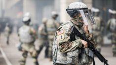 """La primera noche fue """"pacífica"""", dice Guardia Nacional de Georgia apostada en el edificio del Capitolio estatal"""