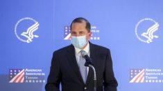 Secretario de Salud Azar critica a China por el mal manejo del COVID-19 durante su discurso en Taiwán