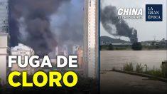 China al Descubierto: Explosión en Leshan, China produce una nube tóxica de cloro