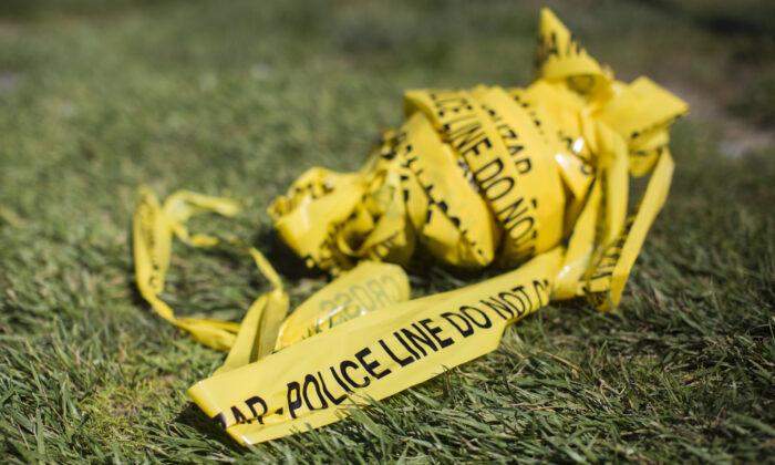 Cinta de la  policía usada en una escena de un crimen. Imagen de archivo (Apu Gomes/AFP vía Getty Images)
