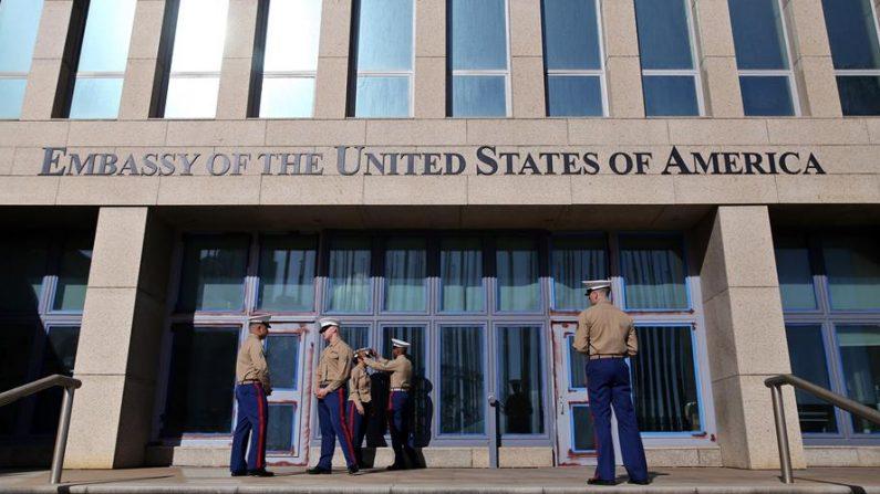 Vista de la embajada de Estados Unidos en la Habana, Cuba. EFE/Alejandro Ernesto/Archivo