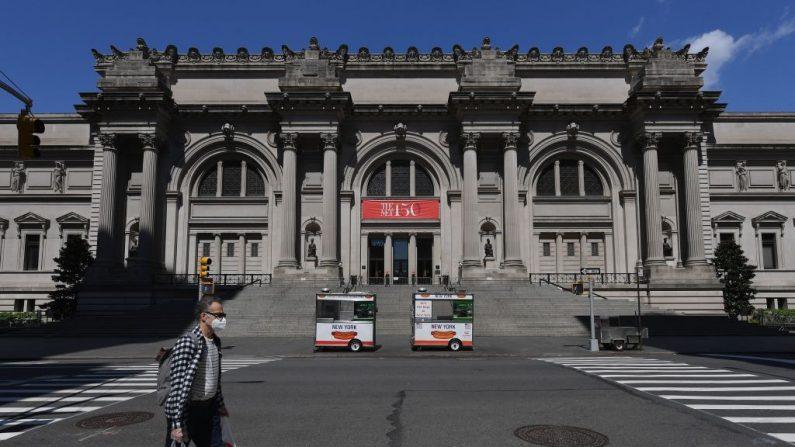 """Una vista del Museo Metropolitano de Arte """"The Met"""" se ve el 4 de mayo de 2020 en la ciudad de Nueva York (EE.UU.). (Angel Weiss/AFP vía Getty Images)"""