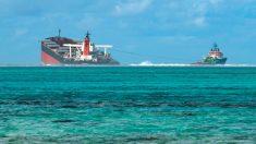 Hunden la proa del barco que derramó combustible en la costa de Mauricio