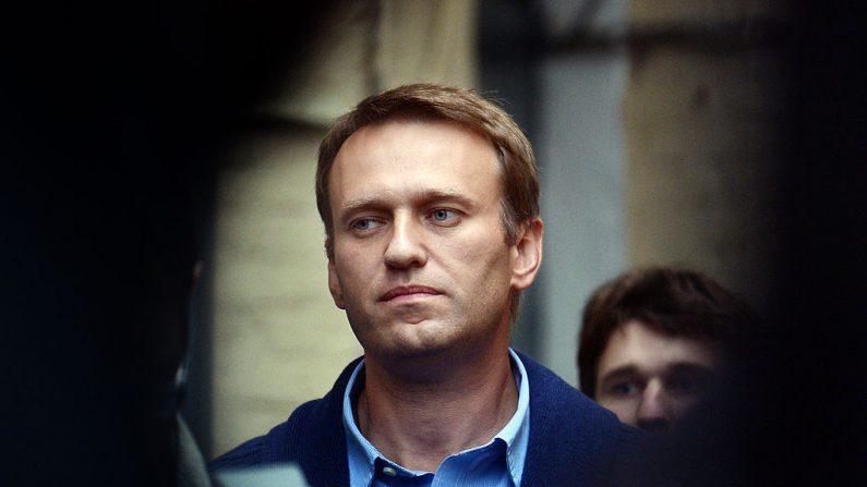 El líder de la oposición rusa Alexéi Navalni, que se presenta a la alcaldía de Moscú, da una conferencia de prensa en Moscú (Rusia) el 4 de septiembre de 2013. (Vasily Maximov / AFP vía Getty Images)