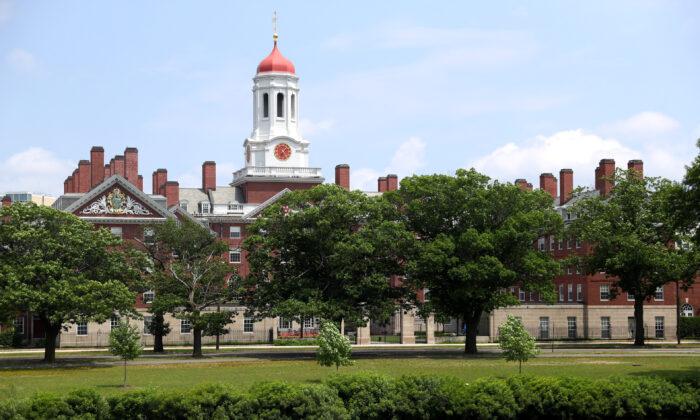 Una vista del campus de la Universidad de Harvard en Cambridge, Massachusetts, el 8 de julio de 2020 (Maddie Meyer/Getty Images)