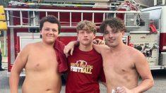 Adolescentes jugadores de fútbol salvan a sus vecinos de un incendio y son elogiados como héroes