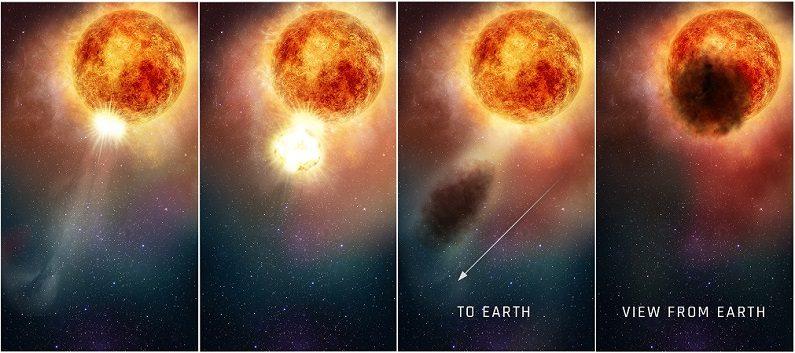 Una ilustración de Betelgeuse. (NASA, ESA, y E. Wheatley STScI)