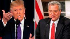 Trump emite una advertencia a De Blasio tras un fin de semana de violencia en Nueva York
