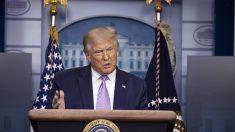 """Trump dice que al adolescente Kyle Rittenhouse le """"atacaron muy violentamente"""""""