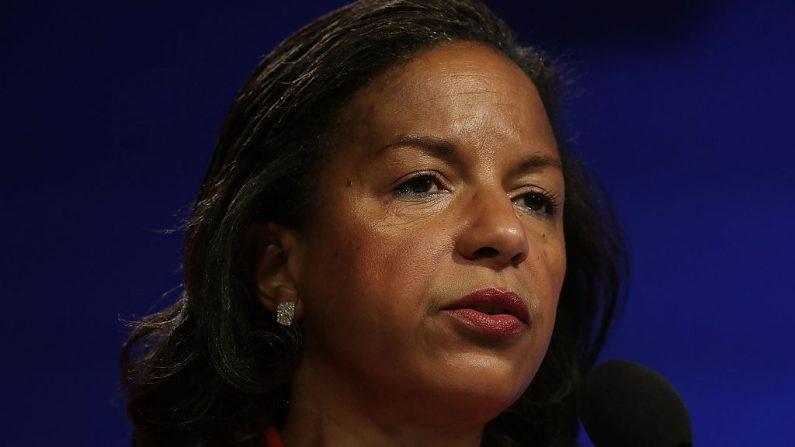 Susan Rice participa en un debate el 14 de octubre de 2016 en el Centro Woodrow Wilson en Washington, DC. (Alex Wong/Getty Images)