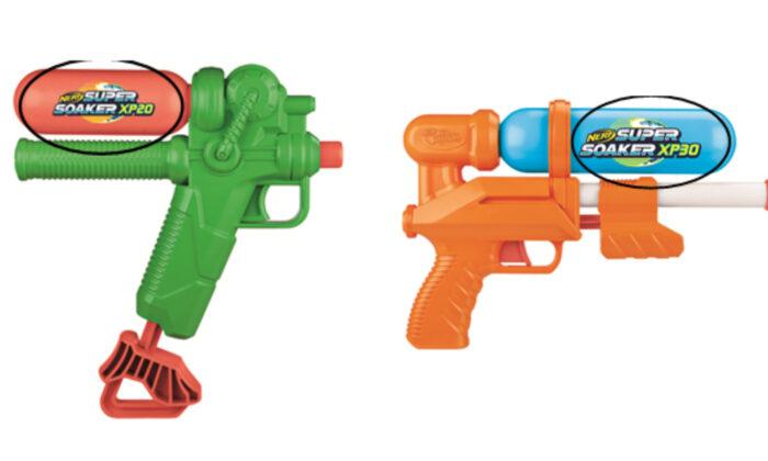 Pistolas de agua. (Cortesía de la Comisión de Seguridad de Productos de Consumo de Estados Unidos)