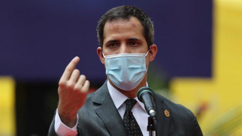 El presidente encargado venezolano Juan Guaidó. EFE/ Miguel Gutiérrez/Archivo