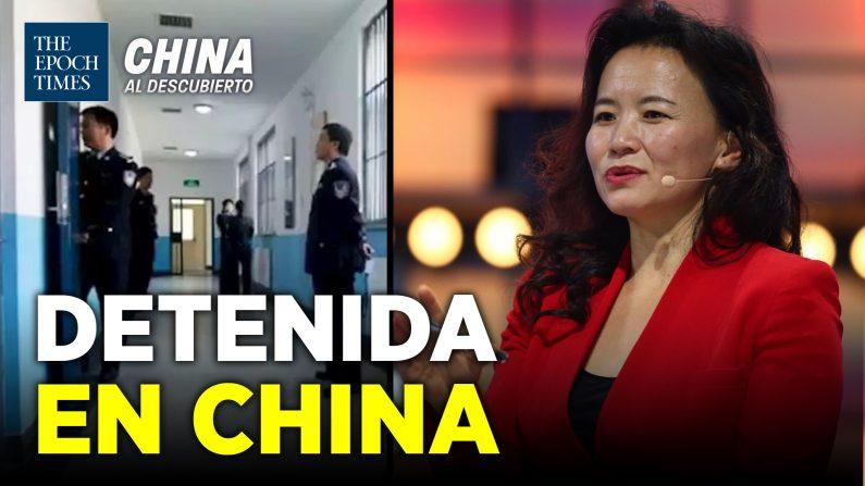 Arrestan una ciudadana australiana conductora del medio chino CGTN. (China al Descubierto/The Epoch Times en Español)