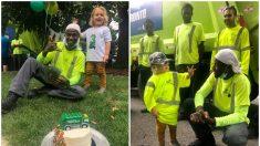 Niño que ama a los recolectores de basura, los invita a su cumpleaños y recibe una gran sorpresa