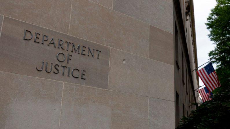 El edificio del Departamento de Justicia de EE. UU. en Washington el 22 de julio de 2019. (Alastair Pike/AFP/Getty Images)