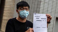 "Arrestan al activista prodemocracia de Hong Kong, Joshua Wong, por ""asamblea ilegal"""