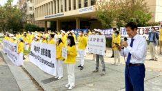 Exigen fin de la nueva ola de persecución frente al consulado chino de Los Ángeles