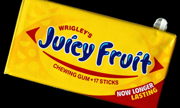 "Una caja de chicles ""Juicy Fruit"" (Tim Boyle/Getty Images)"