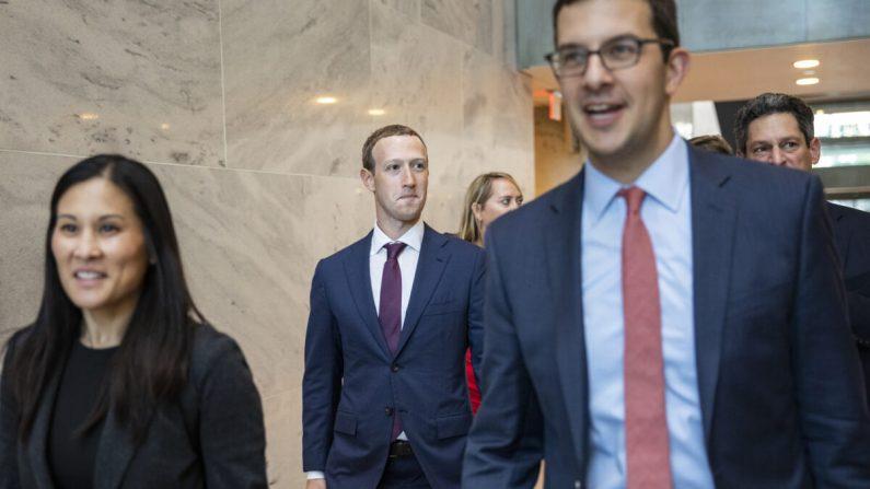 El fundador y CEO de Facebook, Mark Zuckerberg, en Capitol Hill el 19 de septiembre de 2019. (Samuel Corum/Getty Images)
