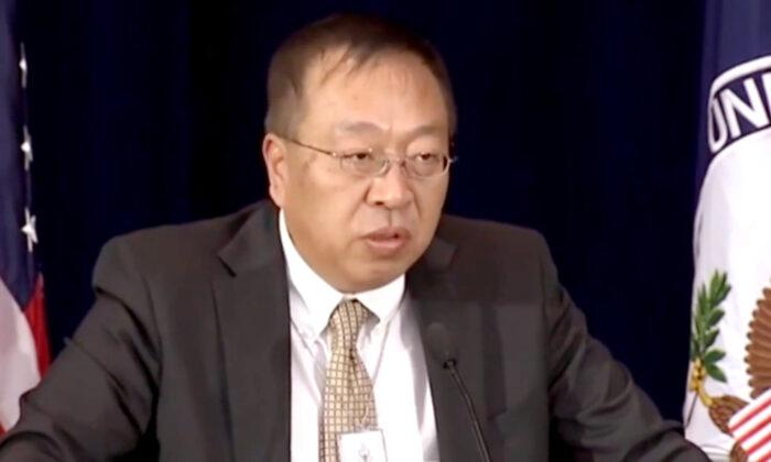 El Dr. Miles Yu, principal asesor de políticas para China del secretario de Estado Mike Pompeo. (Captura de pantalla/Archivo)