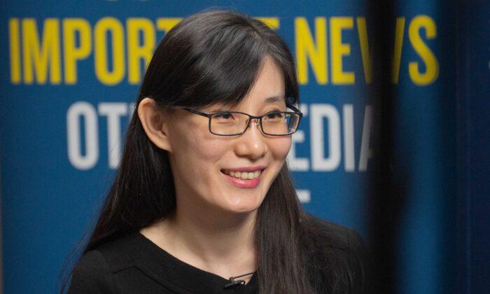 La  viróloga Dra. Yan Limeng en Washington el 28 de julio de 2020 (Brendon Fallon / The Epoch Times)