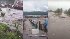 Tres tifones azotan el noreste de China causando inundaciones y destrucción de cultivos