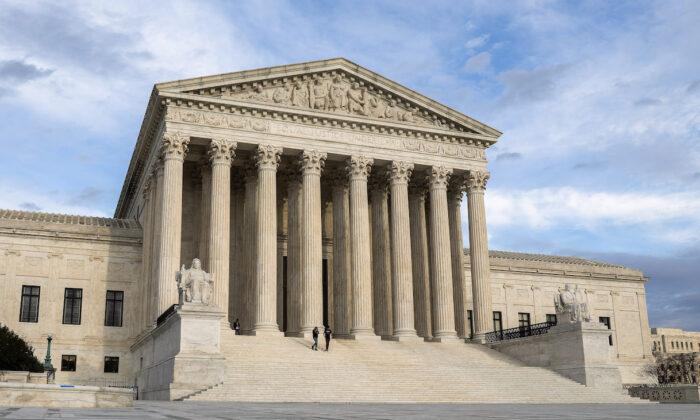 La Corte Suprema en Washington el 10 de marzo de 2020 (Samira Bouaou/The Epoch Times)