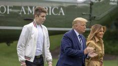 Barron, el hijo de 14 años de Trump, dio negativo a prueba de COVID-19: portavoz