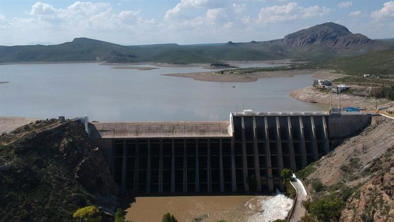 Vista general de la presa Francisco I. Madero (presa de las Vírgenes), en el municipio de Rosales en ciudad Juárez, en el estado de Chihuahua (México). EFE/Luis Torres