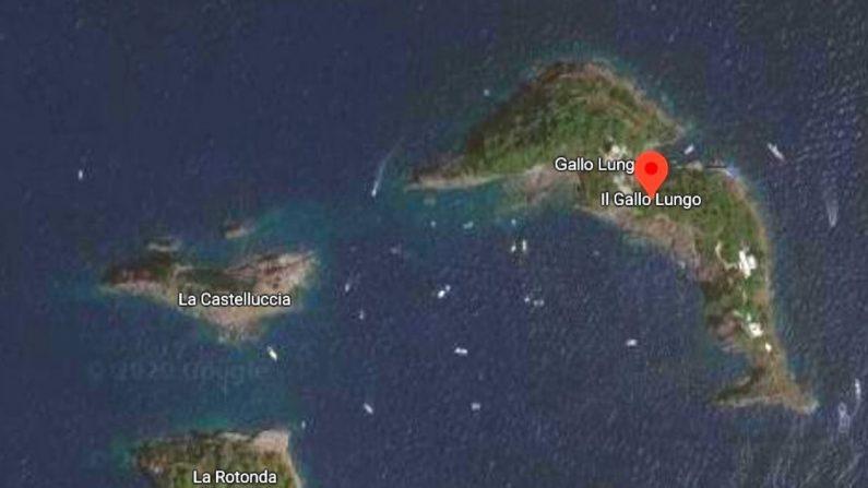 Islas Sirenusas. Italia. (Captura de pantalla/GoogleMaps)