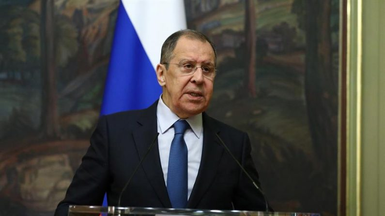 El ministro de Asuntos Exteriores ruso, Serguéi Lavrov, foto tomada el 9 de octubre de 2020 en Moscú (Rusia). EFE/EPA/RUSSIAN FOREIGN AFFAIRS MINISTRY / HANDOUT