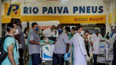Evacúan a 200 pacientes por incendio en hospital referencia de Río de Janeiro