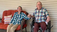 Pareja casada desde hace 60 años se reúne tras 215 días de separación durante la COVID: video