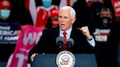 Mike Pence es un trabajador esencial y seguirá haciendo campaña, dice la Casa Blanca
