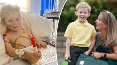 Niño de 5 años a punto de morir por tumor cerebral se recupera milagrosamente, sorprendiendo a médicos
