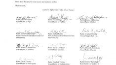 Destacados líderes judíos firman carta abierta de agradecimiento a Trump reconociendo su liderazgo