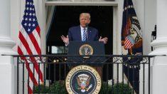 Trump elogia el apoyo de las fuerzas de seguridad en primer evento presencial tras su recuperación