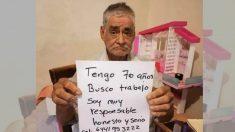 Abuelito mexicano de 70 años pide trabajo a través de redes sociales para obtener una pensión digna