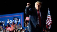 Trump se mostró con energía y optimismo en su primer mitin tras recuperarse del virus del PCCh