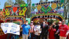 """Unos 200 simpatizantes republicanos arman """"rally"""" en favor de Trump en México"""