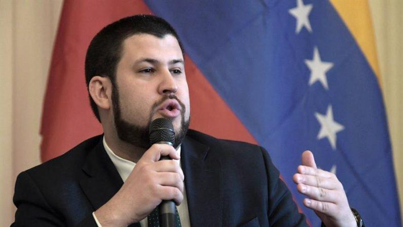 En la imagen, David Smolansky, nombrado por el presidente encargado Juan Guaidó como comisionado de la secretaría general de la Organización de Estados Americanos (OEA). EFE/Lenin Nolly/Archivo